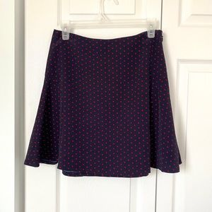 THE LIMITED Polka Dot Flare Skirt size XS